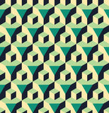 Vector modern seamless colorful geometry cube prism pattern, color abstract Stock Photos