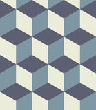 Vector modern seamless colorful geometry cubes pattern, color abstract Royalty Free Stock Photo