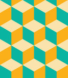 Vector modern seamless colorful geometry cubes pattern, color abstract Royalty Free Stock Photos