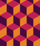 Vector modern seamless colorful geometry cubes pattern, color abstract Stock Photography