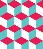 Vector modern seamless colorful geometry cubes pattern, color abstract Royalty Free Stock Photography