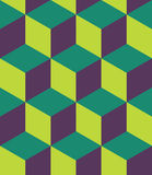 Vector modern seamless colorful geometry cubes pattern, color abstract Stock Image