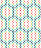 Vector modern seamless colorful geometry dots pattern, color abstract Royalty Free Stock Images