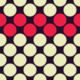 Vector modern seamless colorful geometry dots pattern, color abstract Stock Image