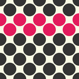 Vector modern seamless colorful geometry dots pattern, color abstract Stock Photos