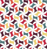 Vector modern seamless colorful geometry floral pattern, color abstract Stock Photos