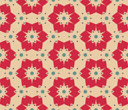 Vector modern seamless colorful geometry floral pattern, color abstract geometric background Stock Images