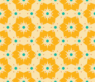 Vector modern seamless colorful geometry floral pattern, color abstract geometric background Royalty Free Stock Images