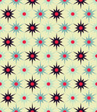 Vector modern seamless colorful geometry floral pattern, color abstract geometric background Stock Image