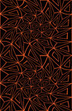 Vector modern seamless colorful geometry halloween pattern, color black orange abstract Royalty Free Stock Photography