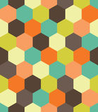 Vector modern seamless colorful geometry hex pattern, color abstract Stock Images