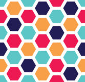 Vector modern seamless colorful geometry hexagon pattern, color abstract Royalty Free Stock Image