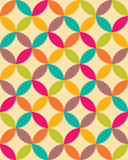 Vector modern seamless colorful geometry overlapping circles pattern, color abstract Stock Photography