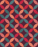 Vector modern seamless colorful geometry overlapping circles pattern, color abstract Royalty Free Stock Images