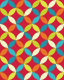 Vector modern seamless colorful geometry overlapping circles pattern, color abstract Stock Image