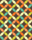 Vector modern seamless colorful geometry overlapping circles pattern, color abstract Stock Photo