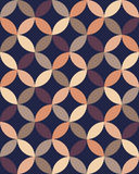 Vector modern seamless colorful geometry overlapping circles pattern, color abstract Royalty Free Stock Photography