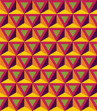 Vector Modern Seamless Colorful Geometry Pattern, 3D Triangles Stock Photography