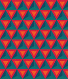 Vector Modern Seamless Colorful Geometry Pattern, 3D Triangles, Stock Images