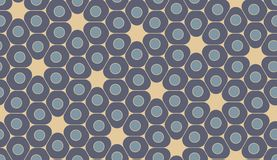 Vector modern seamless colorful geometry pattern, cells Stock Images