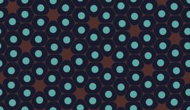 Vector modern seamless colorful geometry pattern, cells Royalty Free Stock Image