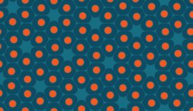 Vector modern seamless colorful geometry pattern, cells Stock Photos