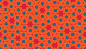 Vector modern seamless colorful geometry pattern, cells Stock Photo