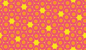 Vector modern seamless colorful geometry pattern, cells Royalty Free Stock Photos