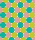 Vector modern seamless colorful geometry pattern, circles, color blue green violet,  abstract Royalty Free Stock Image