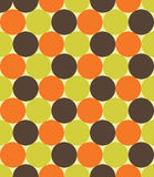 Vector modern seamless colorful geometry pattern, circles, color green orange brown Royalty Free Stock Images