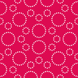 Vector modern seamless colorful geometry pattern circles, color pink abstract Royalty Free Stock Photography