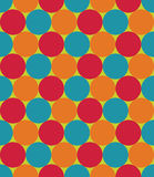 Vector modern seamless colorful geometry pattern, circles, color red blue orange  abstract Royalty Free Stock Image