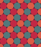 Vector modern seamless colorful geometry pattern, circles, color red blue orange,  abstract Royalty Free Stock Photo