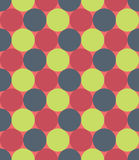 Vector modern seamless colorful geometry pattern, circles, color red green,  abstract Stock Photo