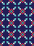 Vector modern seamless colorful geometry pattern, color abstract Royalty Free Stock Photo