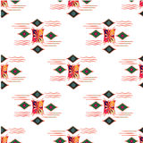 Vector modern seamless colorful geometry pattern, color abstract geometric background, pillow multicolored print. Texture, fashion design, ceramic style Royalty Free Stock Photo