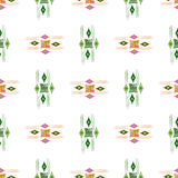 Vector modern seamless colorful geometry pattern, color abstract geometric background, pillow multicolored print. Texture, fashion design, ceramic style Stock Photography