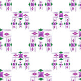 Vector modern seamless colorful geometry pattern, color abstract geometric background, pillow multicolored print. Texture, fashion design, ceramic style Royalty Free Stock Images