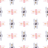 Vector modern seamless colorful geometry pattern, color abstract geometric background, pillow multicolored print. Texture, fashion design, ceramic style Royalty Free Stock Photography