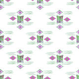 Vector modern seamless colorful geometry pattern, color abstract geometric background, pillow multicolored print. Texture, fashion design, ceramic style Stock Photos