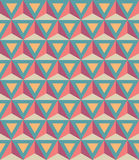 Vector modern seamless colorful geometry pattern, 3D triangles, color abstract. Geometric background, trendy multicolored print, retro texture, hipster fashion Stock Illustration