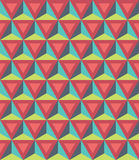 Vector modern seamless colorful geometry pattern, 3D triangles, color abstract. Geometric background, trendy multicolored print, retro texture, hipster fashion Vector Illustration
