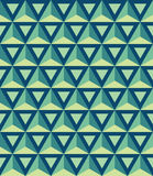 Vector modern seamless colorful geometry pattern, 3D triangles. Color blue abstract geometric background, trendy multicolored print, retro texture, hipster Stock Illustration