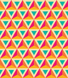 Vector modern seamless colorful geometry pattern, 3D triangles, color orange blue, abstract. Geometric background, trendy multicolored print, retro texture Royalty Free Illustration