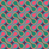 Vector modern seamless colorful geometry pattern, drops Stock Images