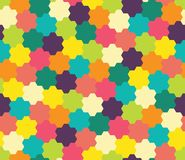 Vector modern seamless colorful geometry pattern, flowers Royalty Free Stock Photography