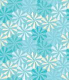 Vector modern seamless colorful geometry pattern, flowers, color blue Royalty Free Stock Photos
