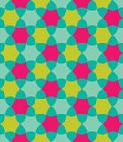 Vector modern seamless colorful geometry pattern, flowers Royalty Free Stock Images