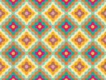 Vector modern seamless colorful geometry pattern flowers Royalty Free Stock Photography