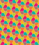 Vector modern seamless colorful geometry pattern, flowers pentagon Royalty Free Stock Images